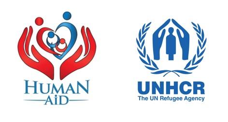 logo human aid unhcr